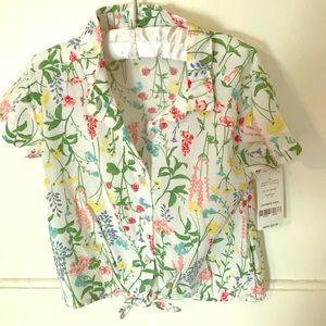 NWT Botanical Print shirt